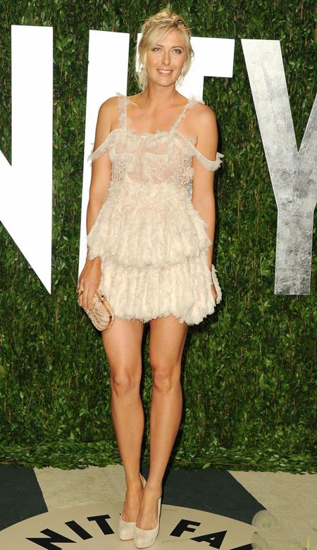 Maria Sharapova Vanity Fair Oscar Party 2012 - Foto Getty