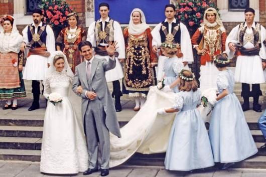 Le nozze tra Il Principe Pavlos di Grecia e Marie-Chantal Miller-  Foto Getty