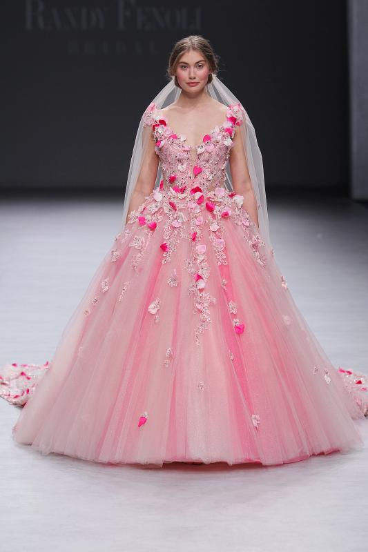 abito da sposa rosa Randy Fenoli Spring 2020