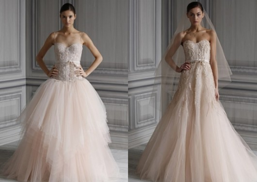 Amber and Candy from Spring 2012 collection by Monique Lhuillier