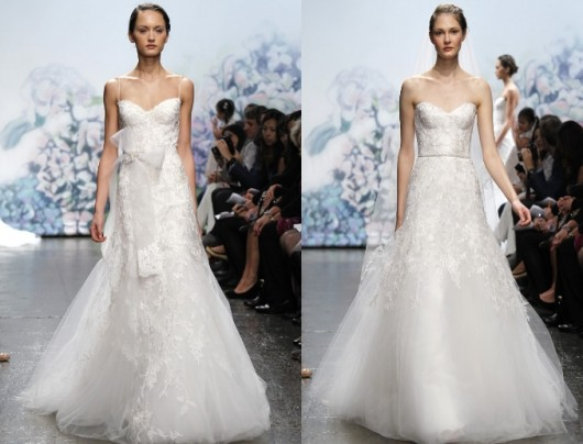 abiti da sposa Cherish e Sentimental dalla Platinum collection Fall 2012 Monique Lhuillier