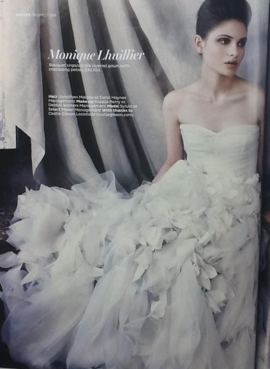 abito da sposa Monique Lhuillier 2012 prezzo di 10.100 sterline