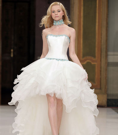 Emé di Emé high-low hemlines wedding dress