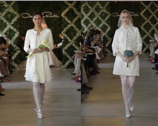 abito da sposa corto Spring 2013 Oscar de la Renta