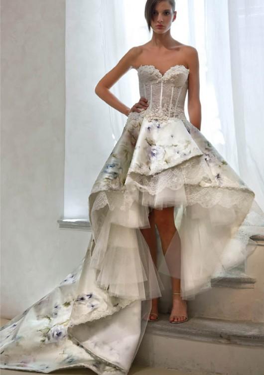 High-low hemlines Elisabeth B wedding dress 2012