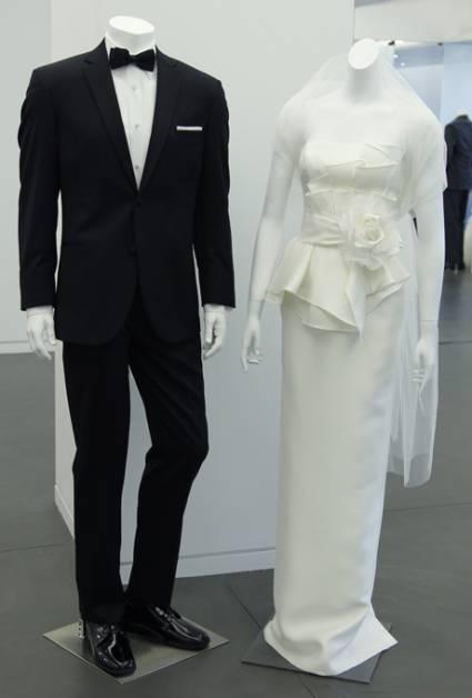 abito da sposa e sposo White Vera Wang Spring 2013 - foto da ZankyouUS
