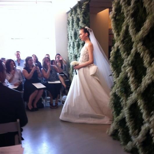 abito da sposa Oscar de la Renta Spring 2013