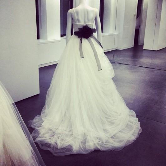 abito da sposa White Vera Wang Spring 2013 - foto Colin Cowie Instagram