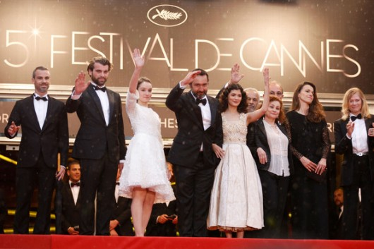 Catherine Arditi, Audrey Tautou, Gilles Lellouche, Anais Demoustier, Francis Perrin, Stanley Weber Closing Ceremony Cannes 2012