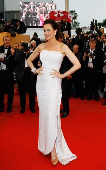 Andy MacDowell in Armani closing ceremony Cannes,  27.5.12