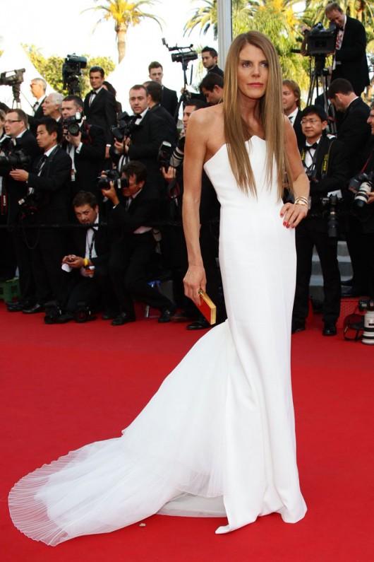 Anna dello Russo in Alberta Ferretti, Cannes Film Festival, 24.5.12, foto Getty
