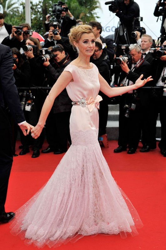 Anne Consigny in Alexis Mabille Spring 2012, Cannes Film Festival, 21.5.12, Foto Getty