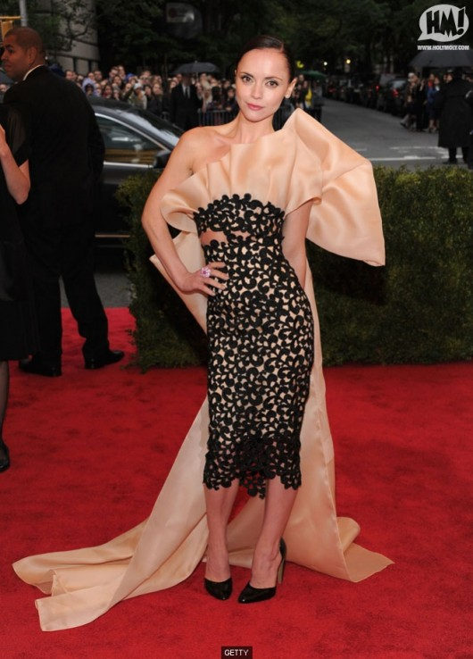 Christina Ricci in Thakoon at Met Ball 2012 - Getty