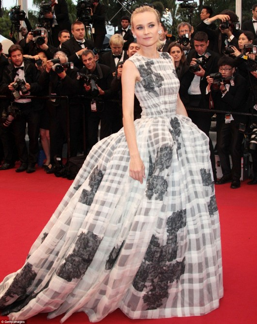 Diane Kruger in Christian Dior, Cannes Film Festival, 27.5.12, Foto Getty