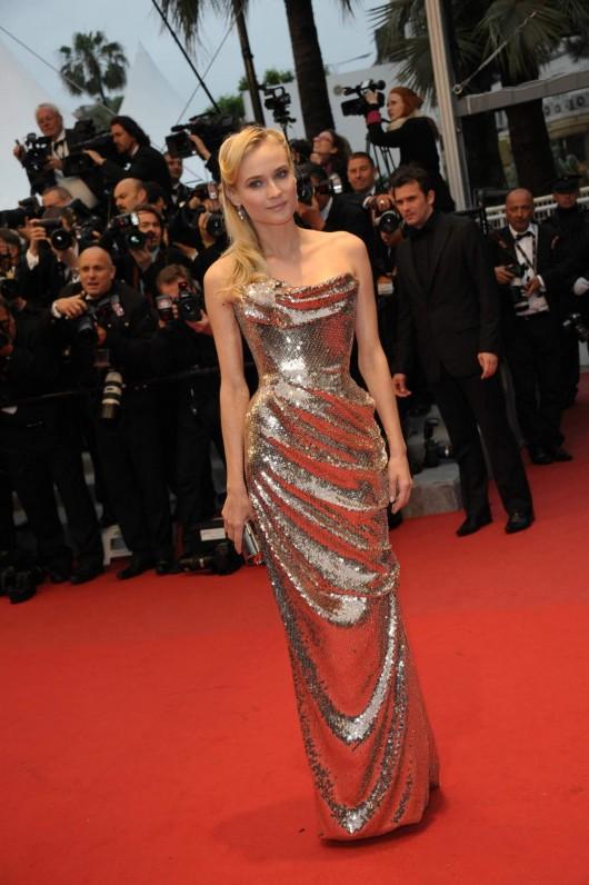 Diane Kruger in Vivienne Westwood Gold Label, Cannes Film Festival, 20.5.12, Foto Getty