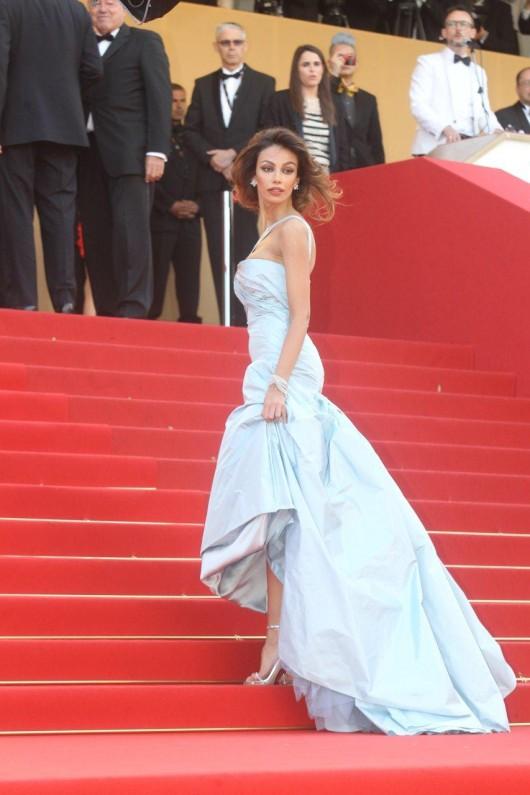 Madalina Ghenea in Roberto Cavalli, Cannes Film Festival, 19.5.12, Foto Getty