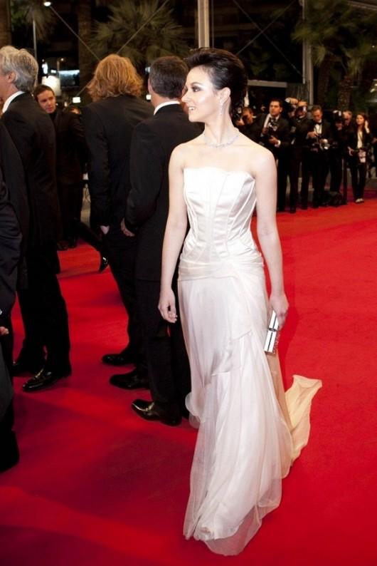 Marta Gastini in Alberta Ferretti, Cannes Film Festival, 19.5.12, Foto Getty