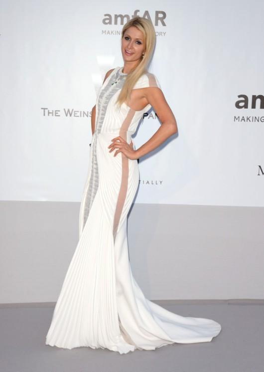 Paris Hilton in Basil Soda amFAR Gala 2012