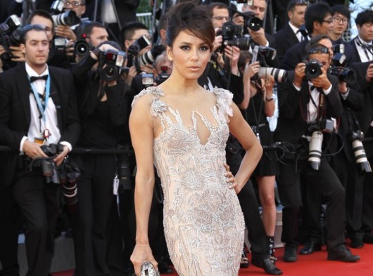 Eva Longoria in Marchesa apertura Festival del Cinema di Cannes 2012 - Foto Getty