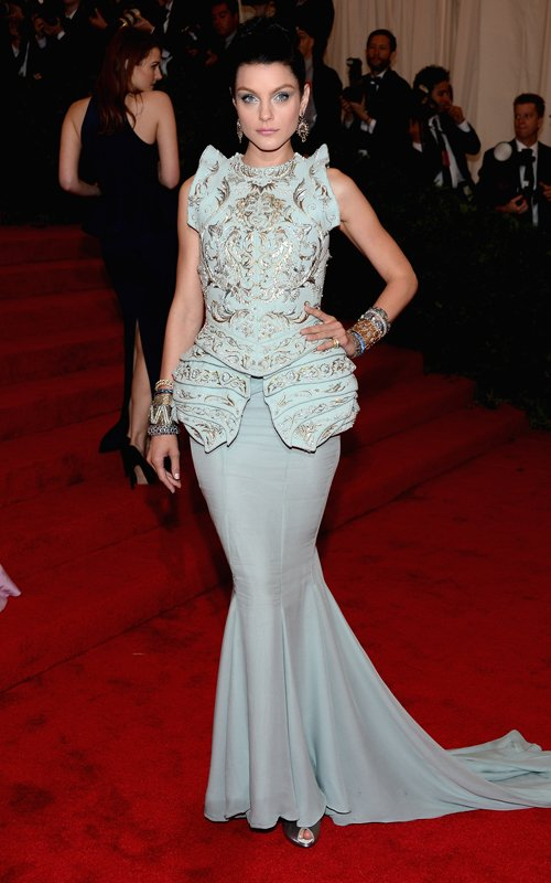 Jessica Stam in John Galliano for Christian Dior Haute Couture at Met Ball 2012 - Foto Getty