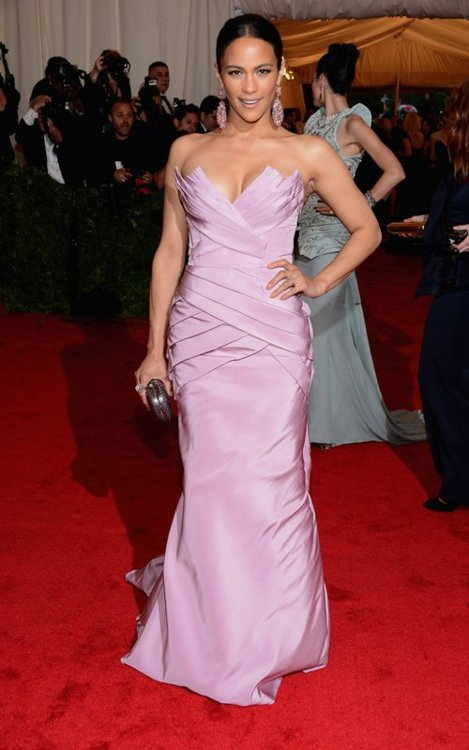 Paula Patton in Vera Wang Met Ball 2012 -  Getty