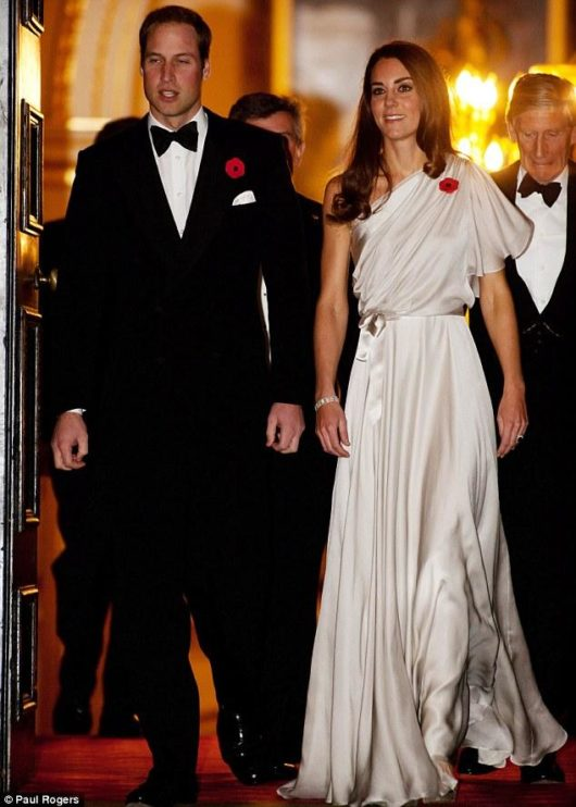 Kate Middleton in Jenny Packham- Pic Paul Rogers