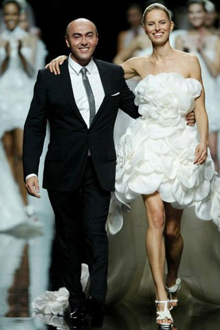 Manuel Mota and Karolina Kurkova Barcelona Bridal Week 2012,  Brides