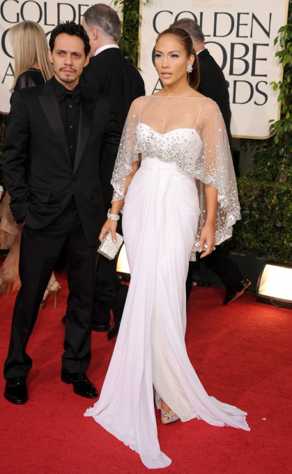 Jennifer Lopez in Zuhair Murad at the 2011 Golden Globe Awards at The Beverly Hilton Hotel on Sunday (January 16) in Beverly Hills, Calif