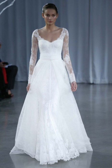 abito da sposa Monique Lhuillier Fall 2013 - Photo lahboss.blogspot.it