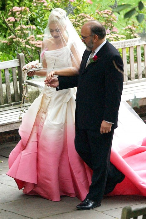 Gwen Stefani in abito da sposa John Galliano for Dior