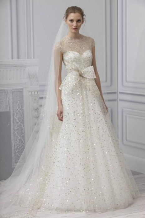 abito da sposa Monique Lhuillier Spring 2013 Bridal Collection. Foto: www.moniquelhuillier.com
