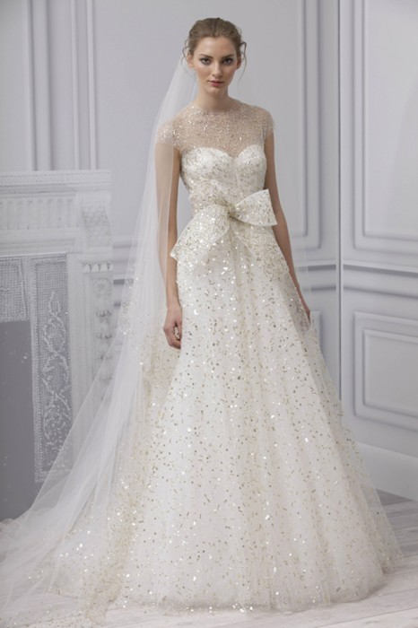 Abito da sposa Champagne Monique Lhuillier Spring 2013 Platinum Collection
