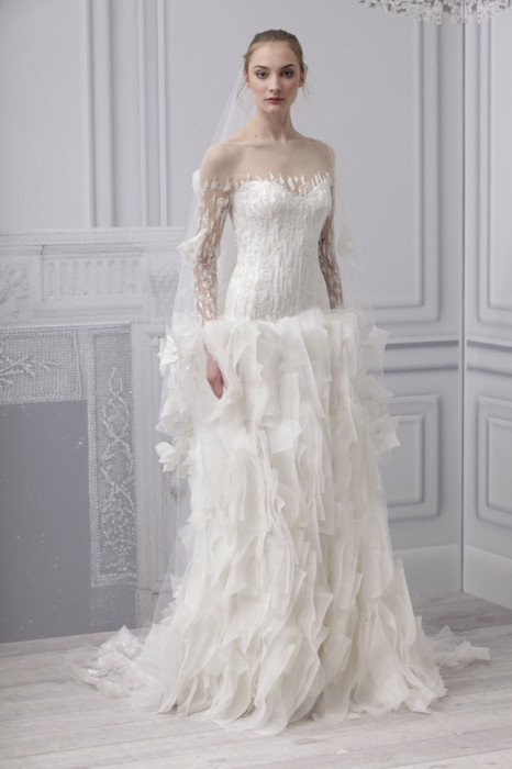 Abito da sposa Mademoiselle Monique Lhuillier Spring 2013 Platinum Collection