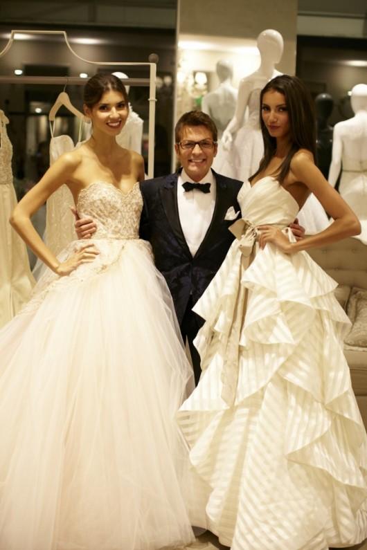 Randy Fenoli di Say Yes to the Dress con abiti da sposa Lazaro Spring 2013 Scott Clark Photo