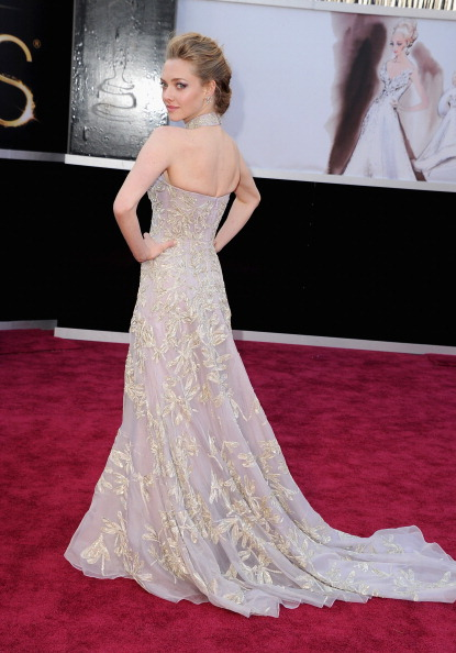 Amanda Seyfried in Alexander McQueen Oscars 2013 Photo by Steve Granitz/WireImage