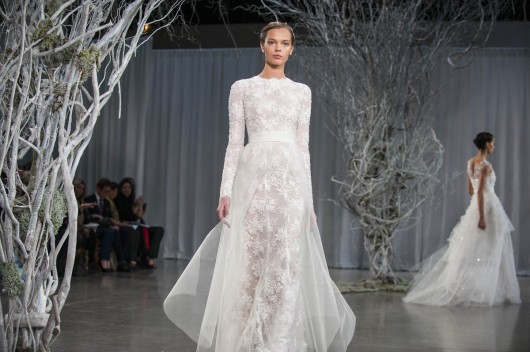 abito da sposa Candice Monique Lhuillier Fall 2013 foto Huffington Post