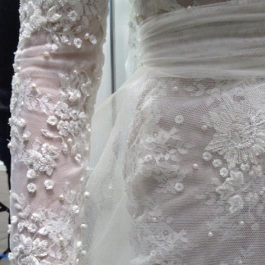 dettaglio abito da sposa Candice Monique Lhuillier Fall 2013