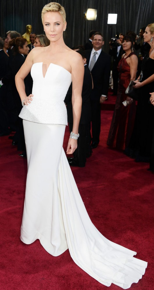 Charlize Theron in Christian Dior Haute Couture Oscars 2013