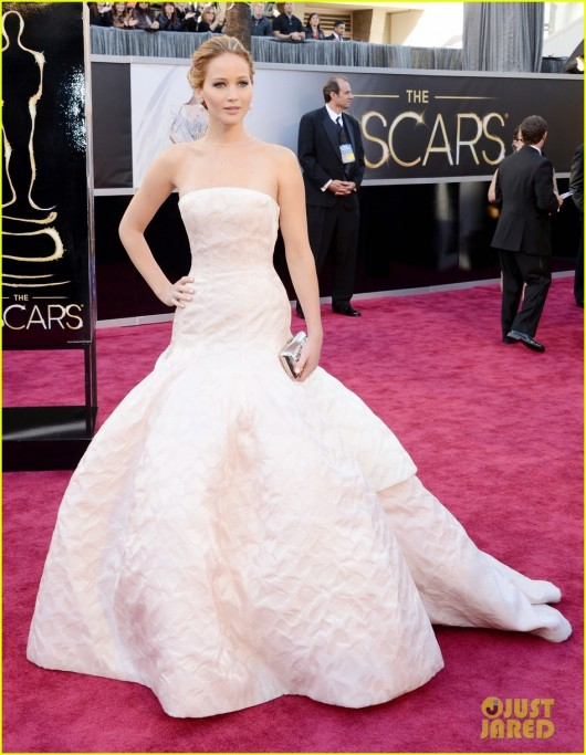 Jennifer Lawrence in Christian Dior Haute Couture Spring 2013 Oscars 2013