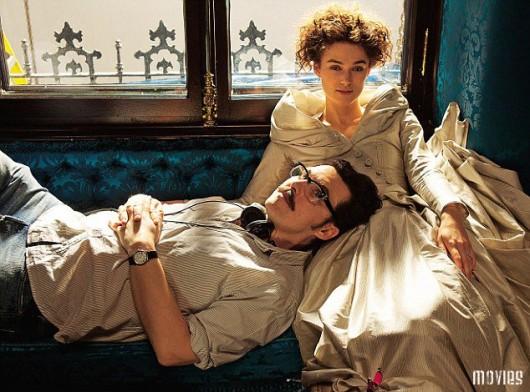 Kera Knightley in Anna Karenina con il regista Joe Wright