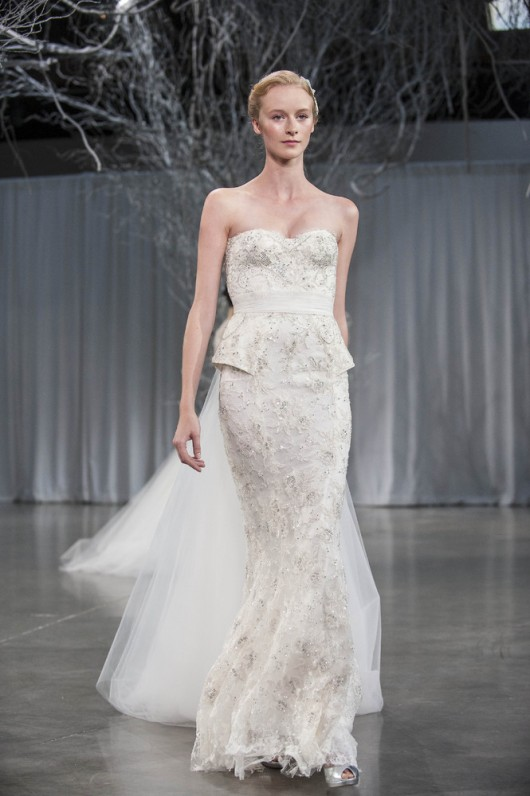 abito da sposa Opulence Monique Lhuillier Fall 2013 foto Huffington Post