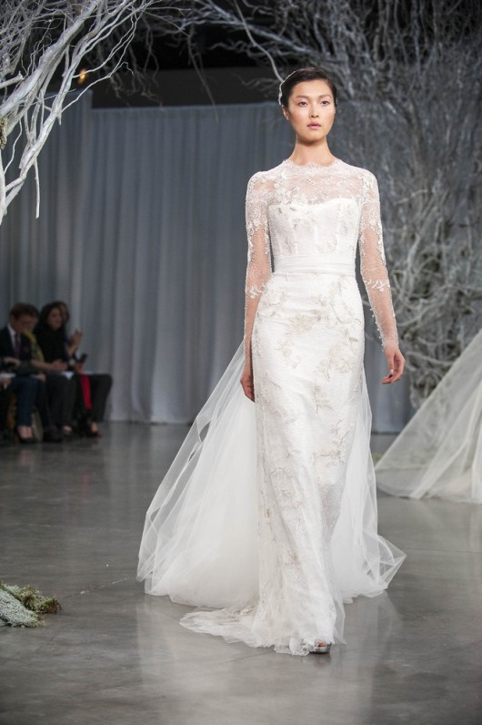 abito da sposa Serendipity Monique Lhuillier Fall 2013 foto Huffington Post