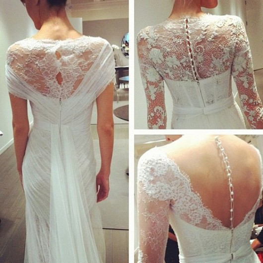 scolli a illusione Monique Lhuillier sposa Fall 2013 foto weddingdream