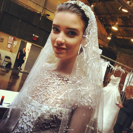abito da sposa Monique Lhuillier Spring 2014 foto thegreyghost on instagram