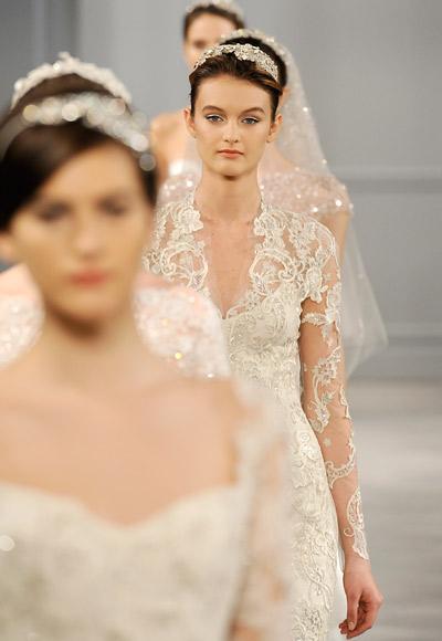 collezione sposa Monique Lhuillier Spring 2014 foto wwd