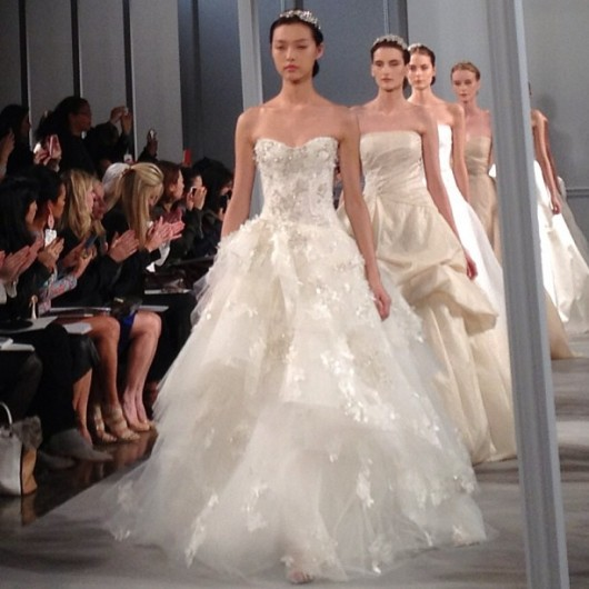 collezione sposa Monique Lhuillier Spring 2014 finale foto bridalguide on instagram
