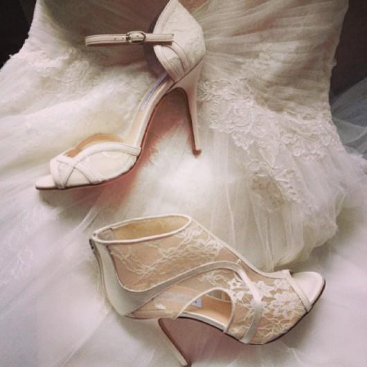 scarpe da sposa Monique Lhuillier Spring 2014