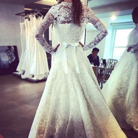 abito da sposa Oscar de la Renta Spring 2014  foto lamoiredelana on Instagram