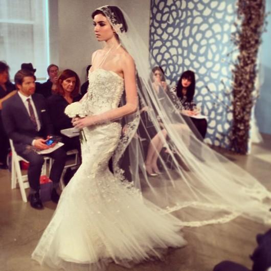 abito da sposa Oscar de la Renta Spring 2014 foto camilletrussler on Instagram