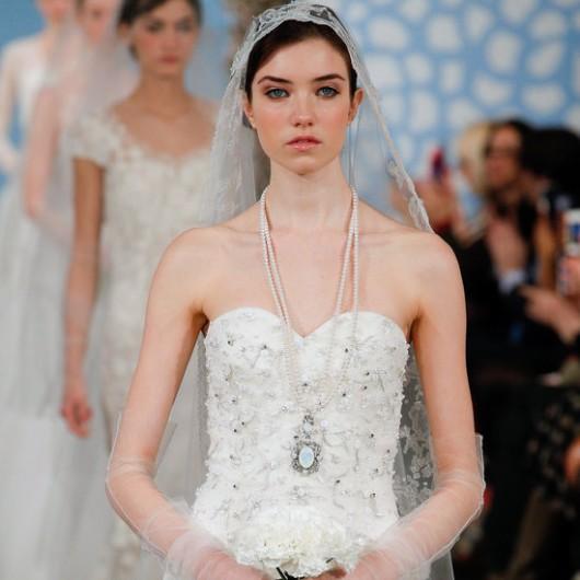 abito da sposa Oscar de la Renta Spring 2014 foto fashionologie.com